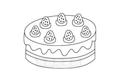 蛋糕简笔画图片大全作品三