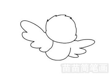 小鸟简笔画图片步骤一