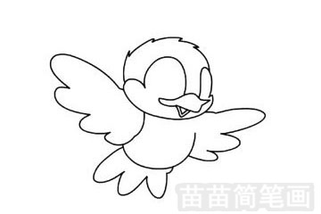 小鸟简笔画图片步骤三