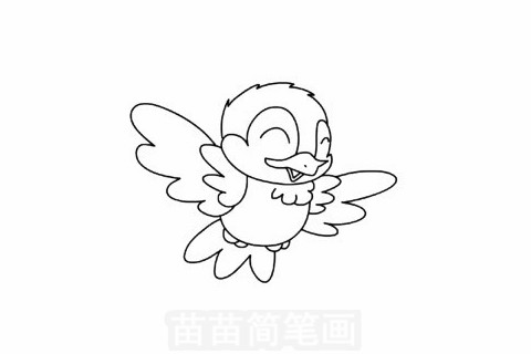 小鸟简笔画大图