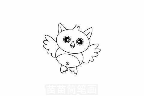 猫头鹰简笔画大图