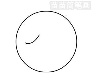 乒乓球简笔画图片步骤二