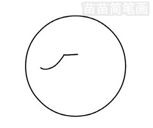 乒乓球简笔画图片步骤三