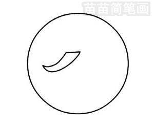 乒乓球简笔画图片步骤四
