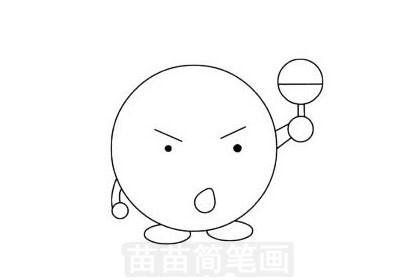 乒乓球简笔画图片大全作品一