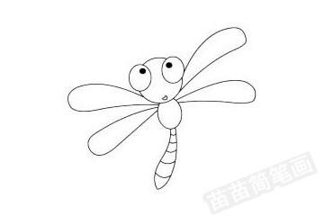 蜻蜓简笔画图片大全作品四