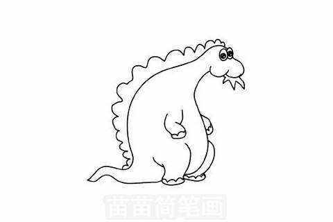 食草龙简笔画大图