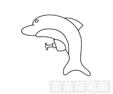 水枪玩具简笔画图片步骤四