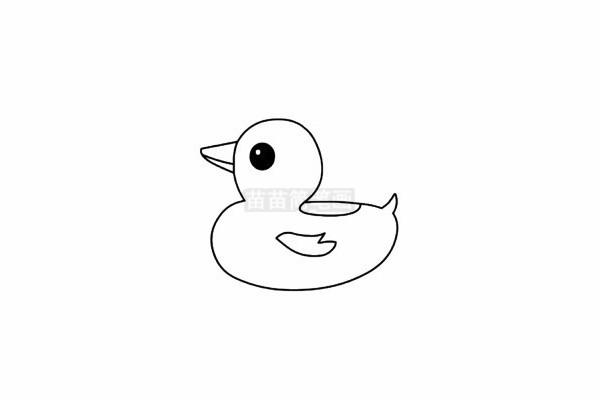 鸭子简笔画图片步骤五