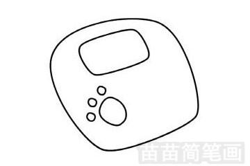 体重秤简笔画图片步骤三