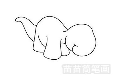 沱江龙简笔画图片步骤一