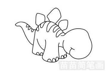 沱江龙简笔画图片步骤三