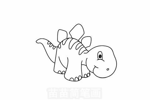 沱江龙简笔画大图