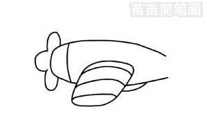 玩具飞机简笔画图片步骤三