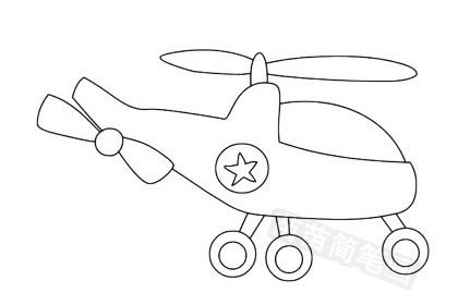 玩具飞机简笔画图片大全作品五