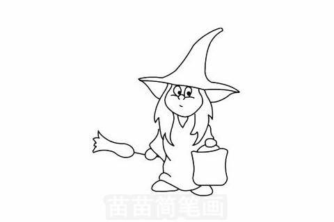 巫婆简笔画大图