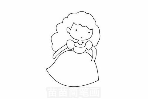 仙蒂公主简笔画大图