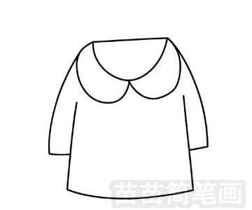 衣服简笔画图片步骤三