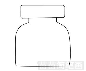 药瓶简笔画图片步骤三