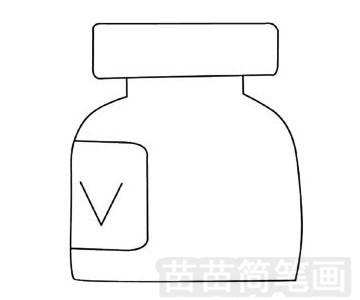 药瓶简笔画图片步骤四
