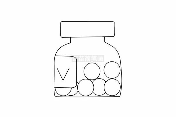 药瓶简笔画图片步骤五