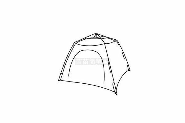 帐篷简笔画图片步骤五