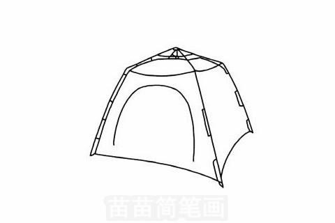 帐篷简笔画大图