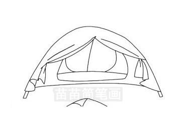 帐篷简笔画图片大全作品三