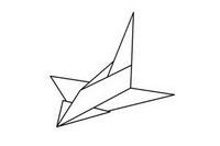 纸飞机简笔画图片大全、画法
