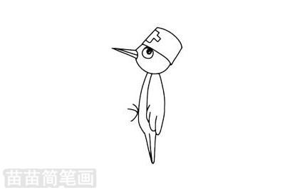 啄木鸟简笔画图片大全作品二