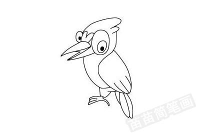 啄木鸟简笔画图片大全作品四