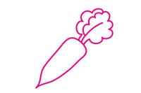 白萝卜简笔画图片大全、教程