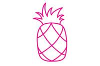 菠萝简笔画图片大全、教程