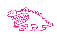 鳄鱼简笔画图片大全、教程