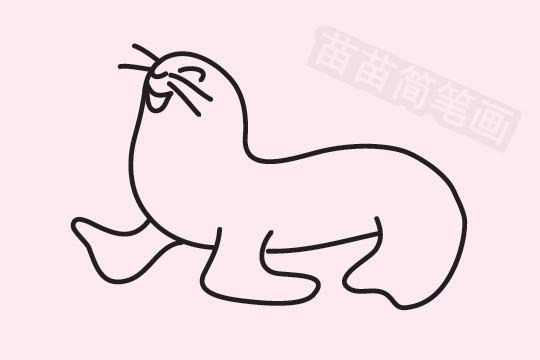 海狮简笔画图片大全作品五