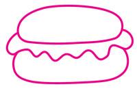 汉堡简笔画图片大全、教程