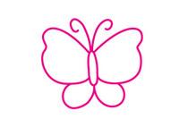蝴蝶简笔画图片大全、教程