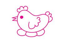 母鸡简笔画图片大全、教程