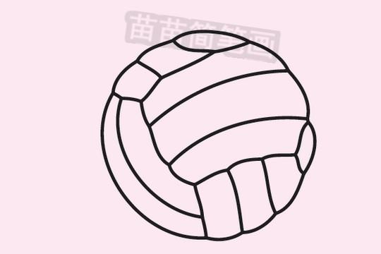 排球简笔画图片大全作品三