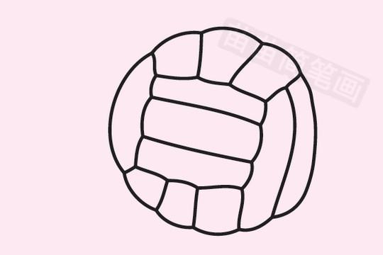 排球简笔画图片大全作品五