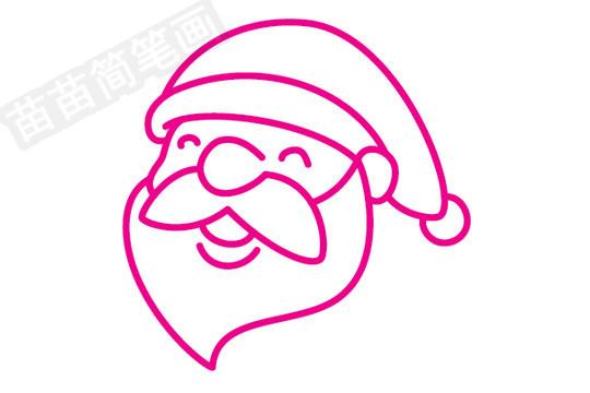 圣诞老人简笔画图片步骤一