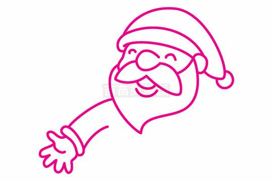 圣诞老人简笔画图片步骤二