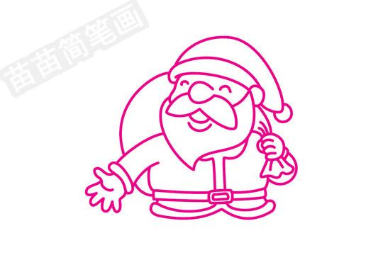 圣诞老人简笔画图片步骤四