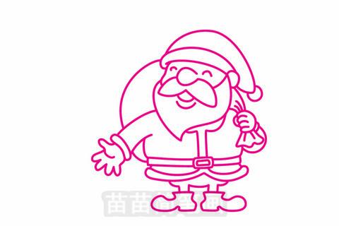 圣诞老人简笔画大图
