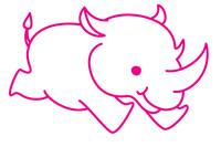 犀牛简笔画图片大全、教程