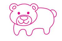熊简笔画图片大全、教程