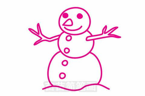 雪人简笔画大图