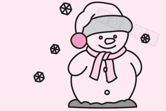 雪人简笔画图片大全作品五