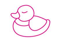 鸭子简笔画图片大全、教程