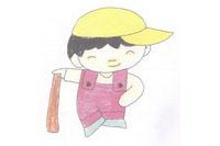 棒球小子简笔画简单画法